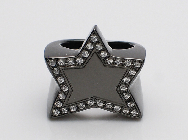 .KING STAR RING/CZ.