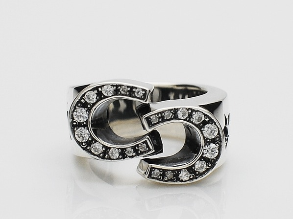.DOUBLE SHOE RING/CZ.
