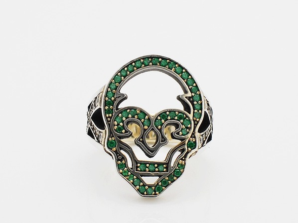 .HOLLOW SKULL/GREEN.