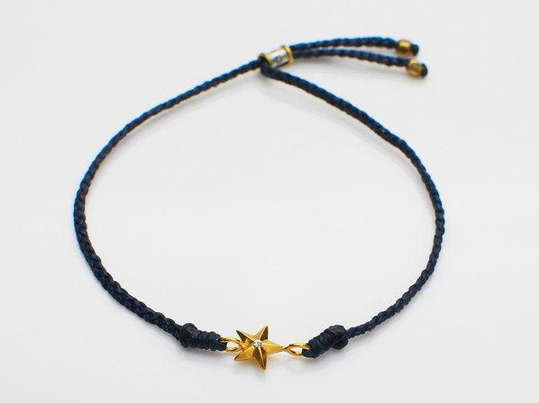 WAXED COAD BRACELET/STAR