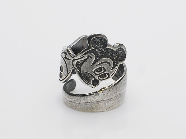 .VINTAGE SPOON RING/MICKY MOUSE.