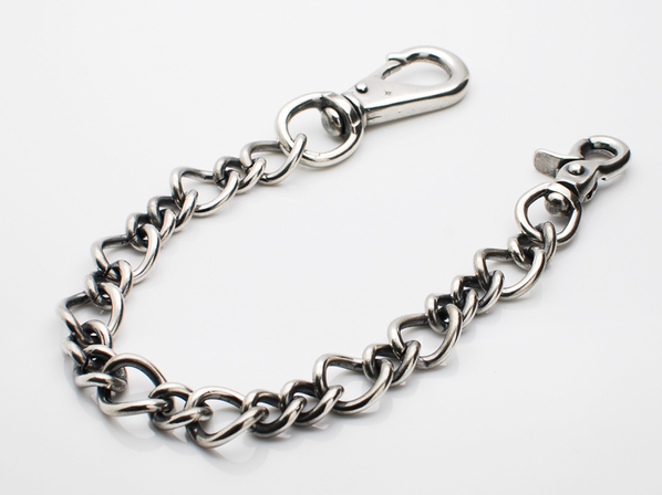 brass wallet chain -diamond