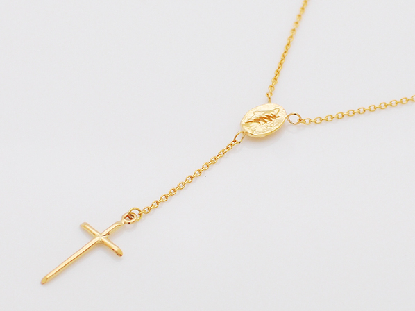 rosary necklace-gold-
