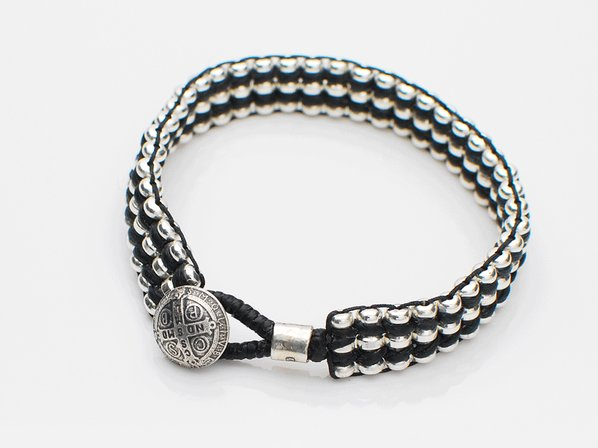 Metal Beads Braid Bracelet