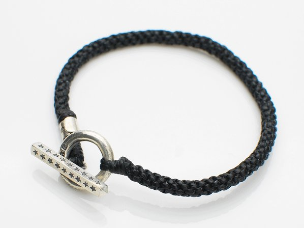 Black Knit Star Bracelet