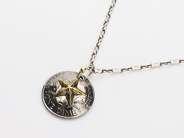Star Dime Concho Necklace