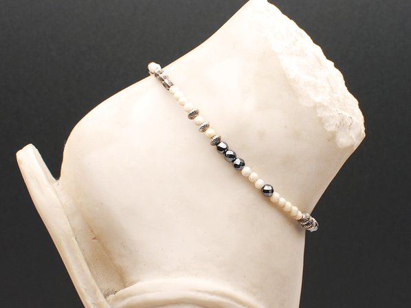 NS Monogram Shield Anklet