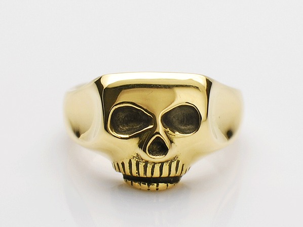 JIM SKULL RING/K18YG