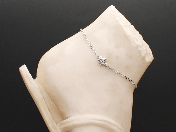BRILLIANCE STAR ANKLET/SV