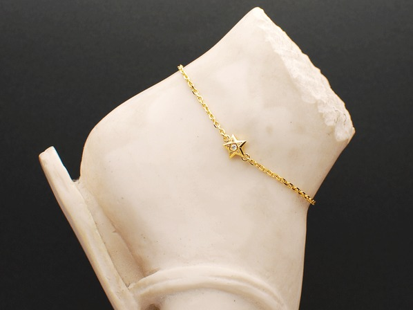 BRILLIANCE STAR ANKLET/GP