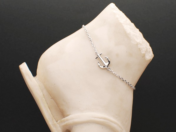 SEA ANCHOR ANKLET/SV