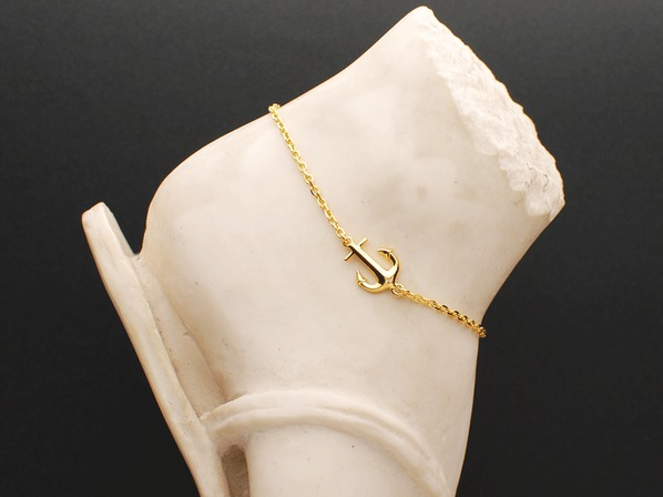 SEA ANCHOR ANKLET/GP