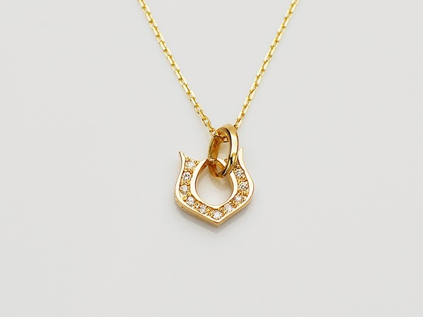 CLASSIC HORSESHOE NECKLACE/K18YG/S