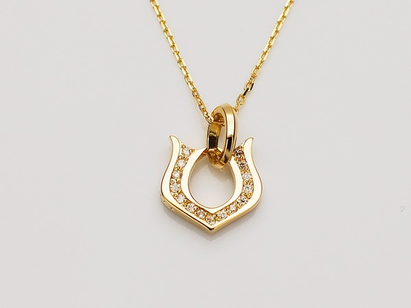 CLASSIC HORSESHOE NECKLACE/K18YG/M
