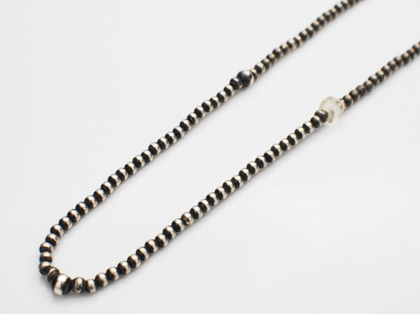 Small Silver Beads Chain Necklace