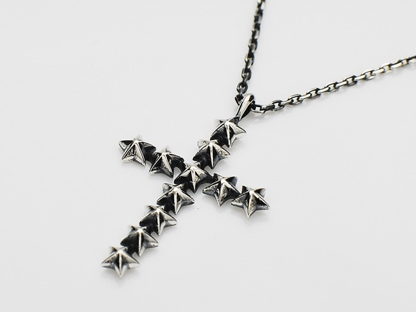 Star Studs Large Cross Necklace
