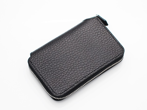 SHORT ZIP WALLET/BLACK