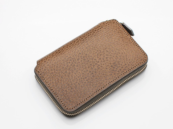 SHORT ZIP WALLET/GRAY