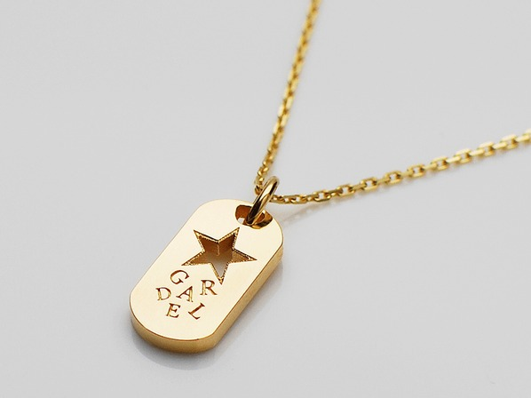 R.STAR DOG TAG NECKLACE