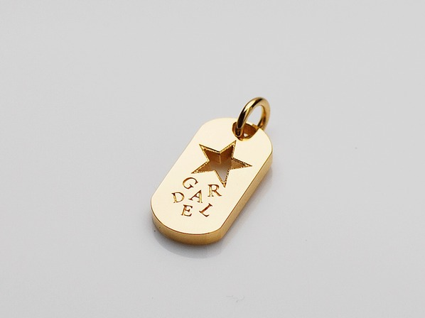 R.STAR DOG TAG PENDANT