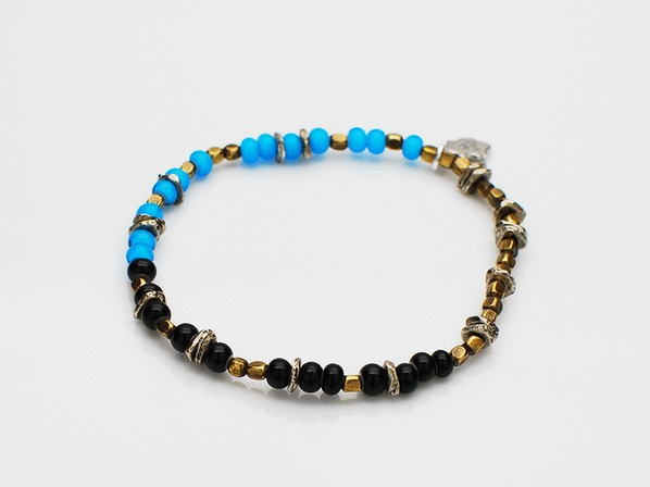 Triple Part Beads-Sky-