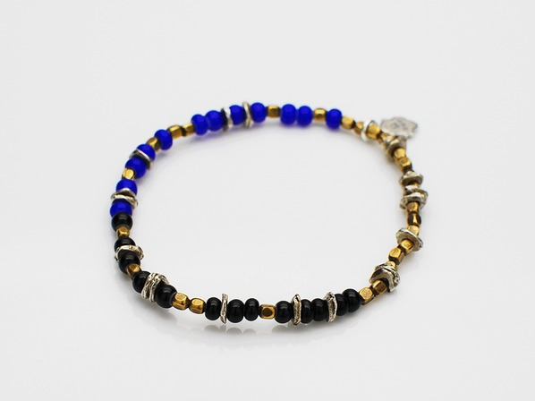 Triple Part Beads-Navy-