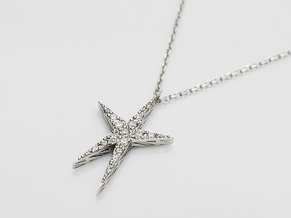 .DOUBLE EDGE STAR NECKLACE/CL.