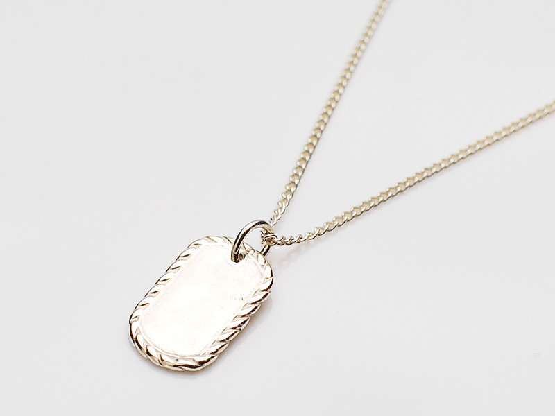 MINIATURE DOGTAG NECKLACE