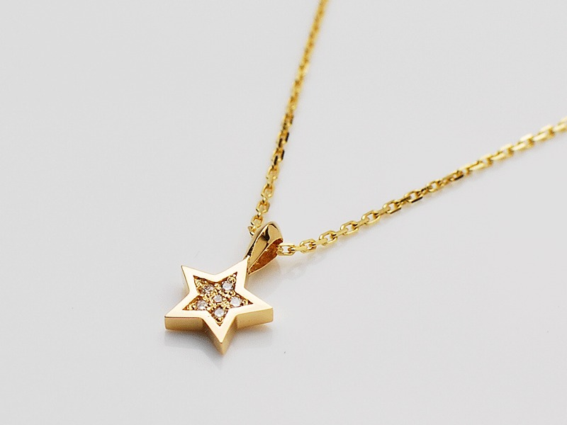 SWEET STAR NECKLACE/K18YG