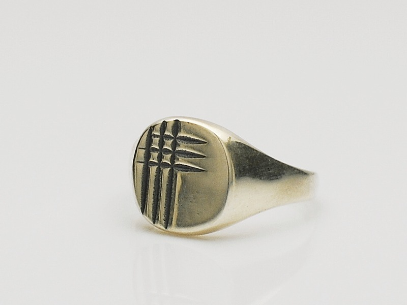 12mm Silver Carving Signet Ring