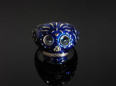 BABY TRIBE SKULL RING/BL
