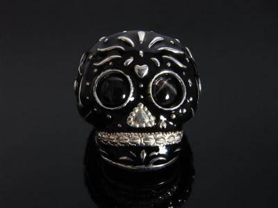 TRIBE SKULL RING/BK