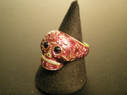 BABY TRIBE SKULL RING/WINE