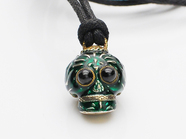 BABY TRIBE SKULL NECK/GREEN