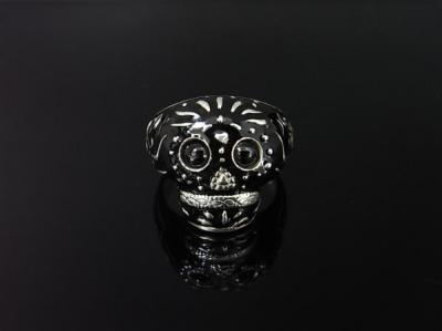 BABY TRIBE SKULL RING/BLACK