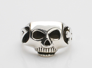 JIM SKULL RING/CLOVER&7