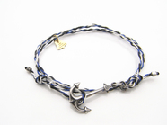 .Yacht Rope Bracelet/antique silver.