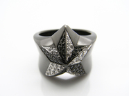 .ROCK STAR RING/BK.