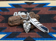 .WING FEATHER & ARROW HEAD/K18ingot.