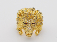 .KING LION HEAD RING.