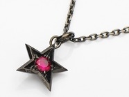 .ROCK STAR PENDANT/BKSR.