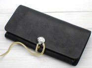 .DOUBLE WALLET/BLACK.