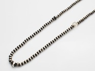 .Small Silver Beads Chain Necklace.