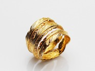 .TRINITY FEATHER RING/K18YG.