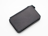 .SHORT ZIP WALLET/BLACK.