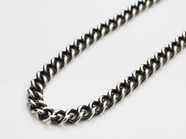 .Hollow Curblink Chain Necklace.