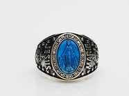 .Mary College Ring-Blue Epoxy-.