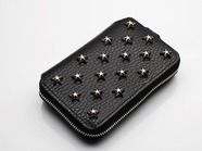 .SHORT ZIP WALLET/STAR STUDS.
